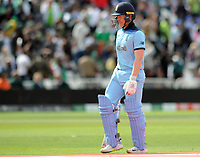 Cricket - 2019 ICC Cricket World Cup - Group Stage: England vs. Pakistan<br /> <br /> Eoin Morgan of England after getting out, at Trent Bridge, Nottingham.<br /> <br /> COLORSPORT/ANDREW COWIE
