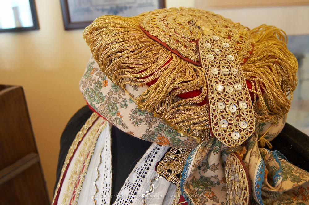 Kir-Yianni Winery, Yianakohori, Naoussa, Macedonia, Greece Traditional costume with elaborate embroideries.