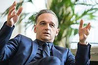 24 JUL 2020, BERLIN/GERMANY:<br /> Heiko Maas, SPD, Bundesaussenminister, waehrend einem Interview, in seinem Buero, Auswaertiges Amt<br /> IMAGE: 20200724-01-044<br /> KEYWORDS: Buero
