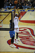 The Washington Wizards defeated the Cleveland Cavaliers 88-87 in Game 5 of the First Round of the NBA Playoffs, April 30, 2008 at Quicken Loans Arena in Cleveland..LeBron James of Cleveland takes a jump shot.