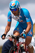 France - Tuesday, Jul 08 2008: Xavier Florencio Cabre (Spa) Bouygues Telecom finished in 140th place on stage 4, 4' 00'' down on the winner Stefan Schumacher. The stage was a 29.5 km time trial starting and ending in Cholet.    (Photo by Peter Horrell / http://www.peterhorrell.com)