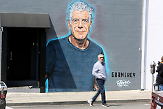 Anthony Bourdain mural goes in in Westside restaurant quarter - 18 June 2018