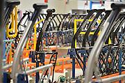Nederland, Dieren, 15-6-2015Vernieuwde fabriek van Gazelle fietsen wordt binnenkort officieel ingebruik genomen. Naar eigen zeggen de modernste productielijnen van klassieke en elektrische fietsen in europa, zoniet ter wereld.. Veel werk wordt nog steeds door mensenhanden gemaakt, ook het bestickeren, spuiten van de frames en de montage.Renewed factory Gazelle bicycles will soon be taken officially in use. According to themselves, the most modern production lines in Europe, if not in the world .. Much work is still done by human hands, also with the assembly.FOTO: FLIP FRANSSEN/ HOLLANDSE HOOGTE