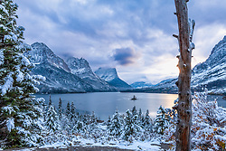 Autumn Snow, St. Mary Lake in Glacier National Park