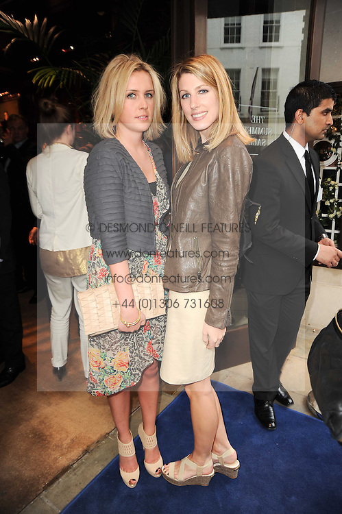Left to right, LUCIE HIRST and SUSANNA WARREN at the Ralph Lauren Wimbledon Party held at Ralph Lauren, 1 New Bond Street, London on 17th June 2010.