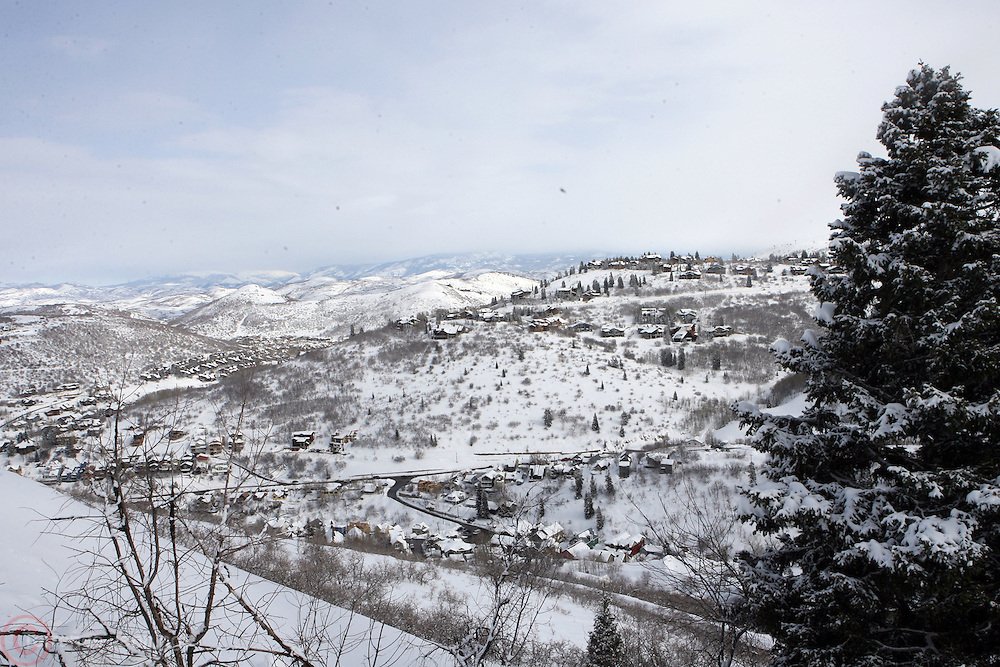 Physical Atmosphere at 2008 Sundance Film Festival in Park City, Utah and mountains over Park City.