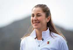 March 10, 2019 - Indian Wells, USA - Belinda Bencic of Switzerland during an interview at the 2019 BNP Paribas Open WTA Premier Mandatory tennis tournament (Credit Image: © AFP7 via ZUMA Wire)