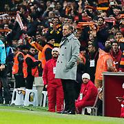Istanbul Basaksehir's coach Abdullah Avci during their Turkish Super League soccer match Galatasaray between Istanbul Basaksehir at the AliSamiYen Spor Kompleksi TT Arena at Seyrantepe in Istanbul Turkey on Saturday, 14 March 2015. Photo by Aykut AKICI/TURKPIX