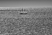 Sailboat on the Gulf of St. Lawrence<br />L'Anse-Pleureuse<br />Quebec<br />Canada