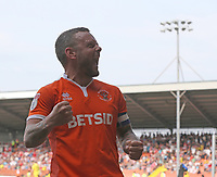 Blackpool's Jay Spearing celebrates his teams winning goal <br /> <br /> Photographer Stephen White/CameraSport<br /> <br /> The EFL Sky Bet League One - Blackpool v Fleetwood Town - Monday 22nd April 2019 - Bloomfield Road - Blackpool<br /> <br /> World Copyright © 2019 CameraSport. All rights reserved. 43 Linden Ave. Countesthorpe. Leicester. England. LE8 5PG - Tel: +44 (0) 116 277 4147 - admin@camerasport.com - www.camerasport.com<br /> <br /> Photographer Stephen White/CameraSport<br /> <br /> The EFL Sky Bet Championship - Preston North End v Ipswich Town - Friday 19th April 2019 - Deepdale Stadium - Preston<br /> <br /> World Copyright © 2019 CameraSport. All rights reserved. 43 Linden Ave. Countesthorpe. Leicester. England. LE8 5PG - Tel: +44 (0) 116 277 4147 - admin@camerasport.com - www.camerasport.com