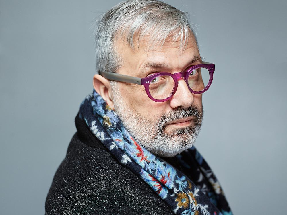 Paris, France. January 26, 2016. Essayist Jean-Christophe Attias, posing at L'Express, a French magazine, right before he's interviewed. Photo: Antoine Doyen