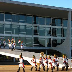 """Palácio da Alvorada em Brasilia (Capital do Brasil) fotografado em Brasilia, Distrito Federal -  Goiais. Registro feito em 2006.<br /> <br /> <br /> ENGLISH: Capital of Brazil photographed in the city of Brasilia, Federal District - Goiais. Picture made in 2006."""""""