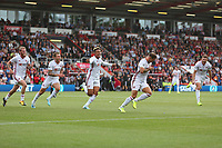 Football - 2019 / 2020 Premier League - AFC Bournemouth vs. Sheffield United<br /> <br /> Billy Sharp of Sheffield United leads the celebrations equalising at the Vitality Stadium (Dean Court) Bournemouth <br /> <br /> COLORSPORT/SHAUN BOGGUST