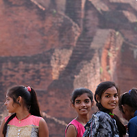 Indian students visit the ruins of Nalanda University in Rajgir, India.<br /> Photo by Shmuel Thaler <br /> shmuel_thaler@yahoo.com www.shmuelthaler.com