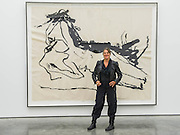 Tracey Emin with Savoured by You part of 9x9x9 - The Last Great Adventure is You - a new exhibition at the White Cube gallery.  It is her first at the London gallery in five years and features: bronze sculptures - including In Grotto (2014), Bird (2014) and a series of bronze bas relief plaques that portray figures; gouaches; paintings; large-scale embroideries; and neon works - including one of the exhibition title. The exhibition 'chronicles the contemplative nature of work'.