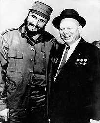 May 07, 1962; Moscow, Russia; Cuban Prime Minister FIDEL CASTRO who is on a visit to Russia , recently spent a day out in the woods near Moscow with Mr. NIKITA KRUSCHEV.<br /> Mandatory Credit: Photo by Keystone Press  /ZUMA Press.<br /> (©) Copyright 1962 by Courtesy of Keystone Press