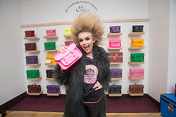 R&B singer Tallia Storm at The Cambridge Satchel Company store in Edinburgh.