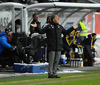 Fotball Europa League<br /> Rosenborg - Metalist Kharkiv 25 oktober 2012<br /> Lerkendal Stadion, Trondheim<br /> <br /> <br /> Rosenborgs trener Jan Jönsson er noe oppgitt<br /> <br /> <br /> Foto : Arve Johnsen, Digitalsport