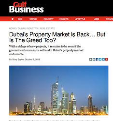 Gulf Business; Skyline of Dubai