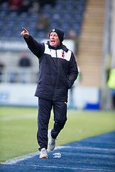 Falkirk's manager Peter Houston. <br /> Falkirk 5 v 0 Alloa Athletic, Scottish Championship game played at The Falkirk Stadium.
