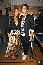 JADE JAGGER and DAN WILLIAMS at a party to celebrate the launch of the new Fiat 500 car held at the London Eye, Westminster Bridge Road, London on 21st January 2008.<br /> <br /> NON EXCLUSIVE - WORLD RIGHTS (EMBARGOED FOR PUBLICATION IN UK MAGAZINES UNTIL 1 MONTH AFTER CREATE DATE AND TIME) www.donfeatures.com  +44 (0) 7092 235465