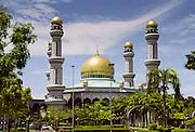 Jame'Asr Hassanal Bolkiah Mosque at Kampong Kiarong in Brunei Darussalam