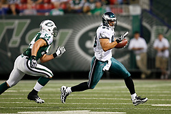 Philadelphia Eagles tight end Tony Curtis #83 runs the ball during the NFL game between the Philadelphia Eagles and the New York Jets on September 3rd 2009. The Jets won 38-27 at Giants Stadium in East Rutherford, NJ.  (Photo By Brian Garfinkel)