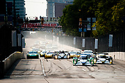 September 2-4, 2011. American Le Mans Series, Baltimore Grand Prix. Start of the ALMS race, led by 16 Dyson Racing Team, Chris Dyson, Guy Smith, Lola B09/86, Mazda MZR-R 2.0 L Turbo I4