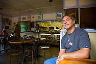 Grandma's Coffee House in Keokea, Maui, Hawaii has been roasting it's own coffee since 1918.  Pictured here is owner Al Franco, one of the great-grandsons of the founder of the business.