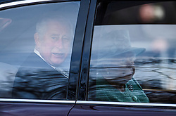 © Licensed to London News Pictures. 19/12/2019. London, UK. PRINCE CHARLES (L) and QUEEN ELIZABETH II (R) are seen being driven down The Mall on her way to The Houses of Parliament for the State Opening of Parliament. Photo credit: Ben Cawthra/LNP