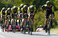 Team Mitchelton - Scott during the Tour de France 2018, Stage 3, Team Time Trial, Cholet-Cholet (35 km) on July 9th, 2018 - Photo Luca Bettini/ BettiniPhoto / ProSportsImages / DPPI
