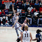 January 14, 2021 Moraga, CA  U.S.A.  St. Mary's Gaels guard Tommy Kuhse (12) drives to the hoop and scores during the NCAA Men's Basketball game between Brigham Young Cougars and the Saint Mary's Gaels 52-62 lost at McKeon Pavilion Moraga Calif. Thurman James / CSM