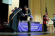 SHOT 5/10/15 3:08:47 PM - Naropa University Spring 2015 Commencement ceremonies at Macky Auditorium in Boulder, Co. Sunday. Parker J. Palmer, a world-renowned author and activist known for his work in education and social change, delivered the commencement speech to more than 300 graduate and undergraduate students along with Naropa faculty and graduate's family members. Naropa University is a private liberal arts college in Boulder, Colorado founded in 1974 by Tibetan Buddhist teacher and Oxford University scholar Chögyam Trungpa. (Photo by Marc Piscotty / © 2014)