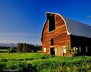Old Dairy Barn near Whitefish River in Whitefish, Montana, USA