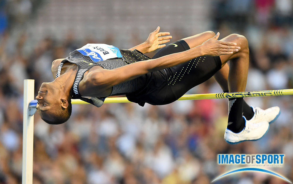 Sep 9, 2016; Brussels, Belgium; Mutaz Essa Barshim (QAT) places second in the high jump at 7-7¼ (2.32m) in the 41st Memorial Van Damme at King Baudouin Stadium. Photo by Jiro Mochiuzki