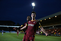 Football - 2018 / 2019 EFL Carabao Cup (League) Cup - First Round: Macclesfield Town vs. Bradford City<br /> <br /> Luca Coalville of Bradford City celebrates scoring at Moss Rose.<br /> <br /> COLORSPORT/LYNNE CAMERON