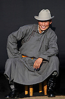 Mongolie. Province de Tov. Homme mongol. // Mongolia. Tov province. Mongol man.