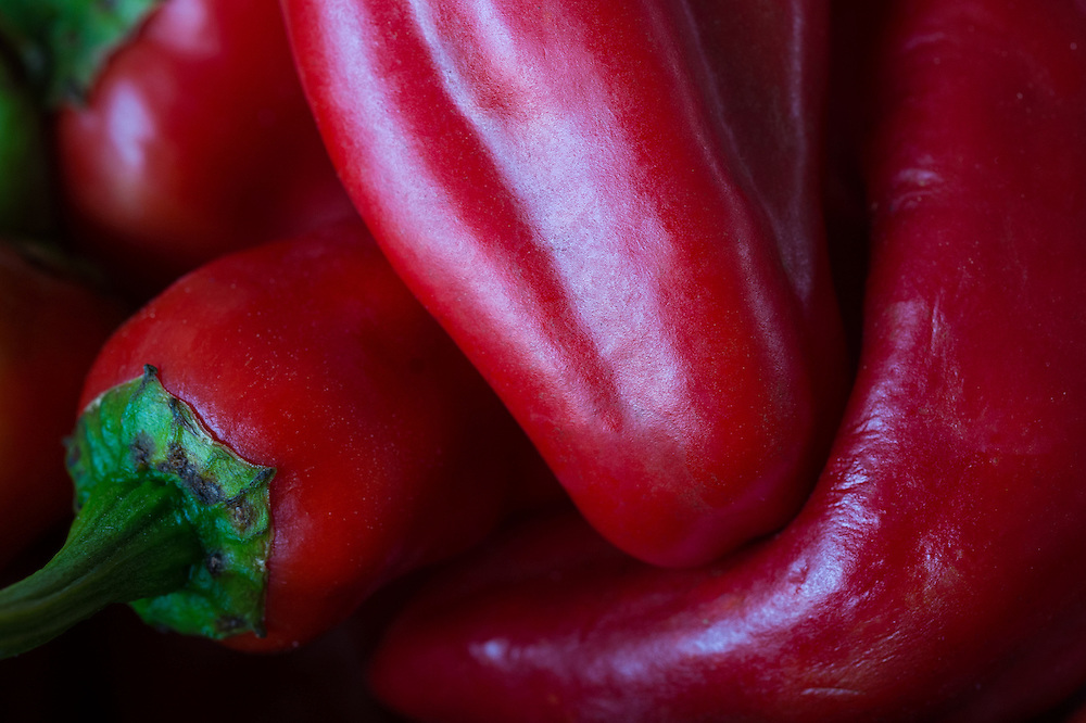 Peppers at the State Farmers Market, Raleigh, North Carolina