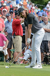 August 9, 2018 - Town And Country, Missouri, U.S - TOMMY FLEETWOOD from England gets ready to tee off on hole number 6 during round one of the 100th PGA Championship on Thursday, August 8, 2018, held at Bellerive Country Club in Town and Country, MO (Photo credit Richard Ulreich / ZUMA Press) (Credit Image: © Richard Ulreich via ZUMA Wire)
