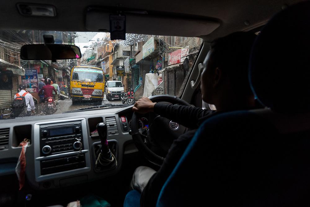 Driving the streets of Kathmandu, Nepal