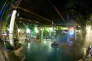 Israel, Golan Heights, Hamat Gader natural hot spring spa Night Shot