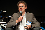"""Dr. Ulrich Quay, Managing Director/Partner, BWW IVentures, on the panel, """"Smart Transport, Smart Cities: A Discussion of Smart Urban Technologies."""" Manhattan Chamber of Commerce's Transportation Transformation Global Summit at NYIT in New York on April 26, 2012."""