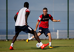 Joe Morrell of Bristol City takes on Famara Diedhiou of Bristol City - Mandatory by-line: Matt McNulty/JMP - 20/07/2017 - FOOTBALL - Tenerife Top Training Centre - Costa Adeje, Tenerife - Pre-Season Training