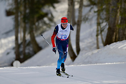 LEKOMTCEV Vladislav competing in the Nordic Skiing XC Long Distance at the 2014 Sochi Winter Paralympic Games, Russia