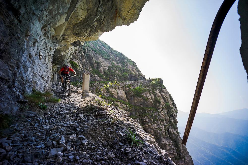 Holger Meyer, Sentiero dei Alpini deviation, Alta Via above Ventimiglia, Italy.