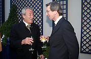 Terry O'Neill and David Montgomery. The Business Summer party hosted by Andrew Neil. Italian Hotel, Ritz Hotel. 12 July 2005. ONE TIME USE ONLY - DO NOT ARCHIVE  © Copyright Photograph by Dafydd Jones 66 Stockwell Park Rd. London SW9 0DA Tel 020 7733 0108 www.dafjones.com