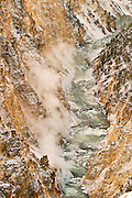 The Grand Canyon of the Yellowstone in early winter