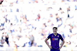 October 7, 2018 - Rome, Rome, Italy - Federico Chiesa of Fiorentina looks dejected during the Serie A match between Lazio and Fiorentina at Stadio Olimpico, Rome, Italy on 7 October 2018. (Credit Image: © Giuseppe Maffia/NurPhoto/ZUMA Press)