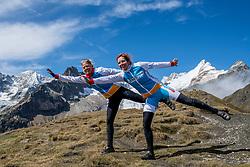 15-09-2017 ITA: BvdGF Tour du Mont Blanc day 6, Courmayeur <br /> We starten met een dalende tendens waarbij veel uitdagende paden worden verreden. Om op het dak van deze Tour te komen, de Grand Col Ferret 2537 m., staat ons een pittige klim (lopend) te wachten. Na een welverdiende afdaling bereiken we het Italiaanse bergstadje Courmayeur. Marion en Nicole