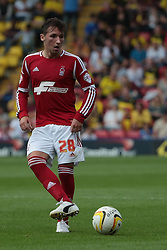 Nottingham Forest's Radoslaw Majewski  - Photo mandatory by-line: Nigel Pitts-Drake/JMP - Tel: Mobile: 07966 386802 25/08/2013 - SPORT - FOOTBALL -Vicarage Road Stadium - Watford -  Watford v Nottingham Forest - Sky Bet Championship
